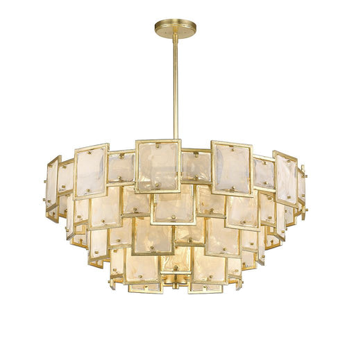 Mariana Home - Skyler 16 Light Pendant - Gold Leaf Finish - Art Glass - 251623