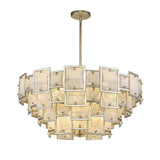 Mariana Home - Skyler 16 Light Pendant - Silver Leaf Finish - Art Glass - 251628