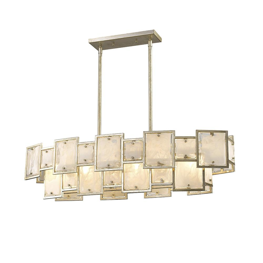 free today light manning chandelier product crystorama garden leaf collection home silver overstock shipping