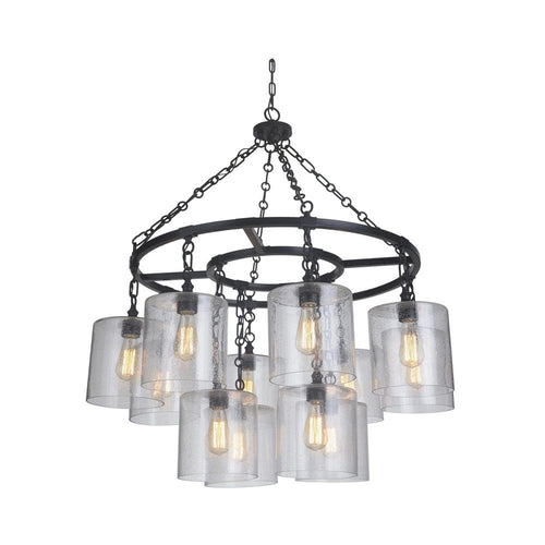 Mariana Home - Olaf Twelve Light Pendant - Bronze Finish - Farmhouse - Industrial - 261273