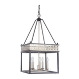 Mariana Home - Marlow Five Light Lantern - Bronze and Silver Leaf Finish - 280583