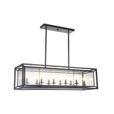 Mariana Home - Edward Ten Light Pendant - Bronze Finish - Modern Farmhouse Style - Seeded Glass - 301083