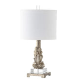 Mariana Home - Asher Table Lamp - Crystal Form - Antique Silver Leaf Finish - 310002