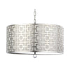 Mariana Home - Sydney Three Light Pendant - Silver Leaf Finish - 310003