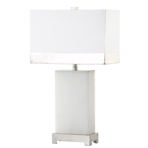 Mariana Home - Avery Table Lamp - Alabaster Base with Silver Leaf Finish and Accents - 310013