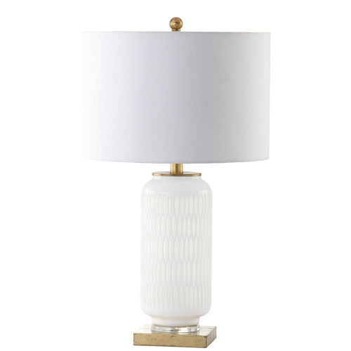 Mariana Home - Bonita Table Lamp - Milky White Art Glass - Gold Leaf Finish - 310014