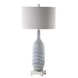 Mariana Home - Babette Table Lamp - Light Blue Art Glass Base with Silver Leaf Finish - 310016