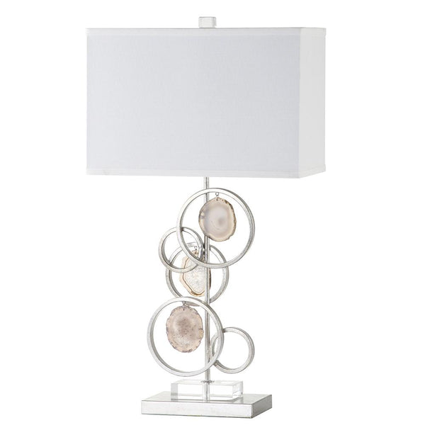 Mariana Home - Paris Table Lamp - Silver Leaf Finish - Agate Slices - 310017