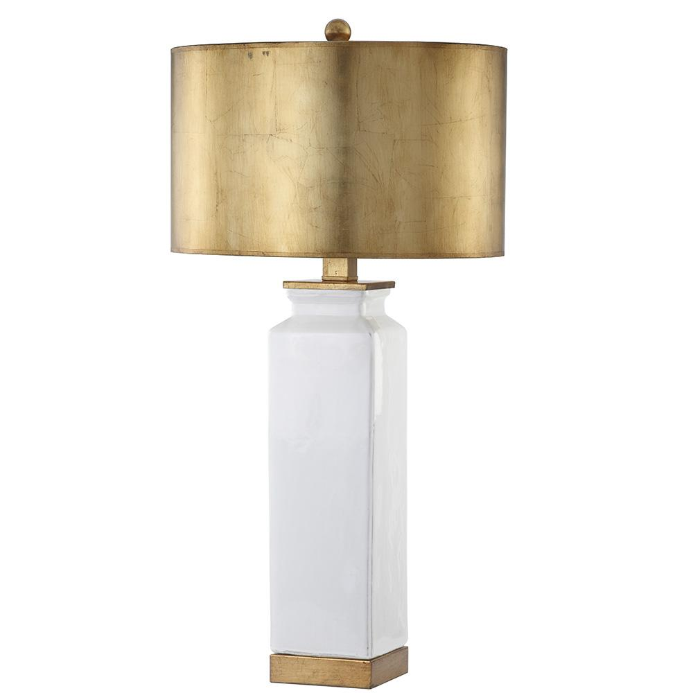 Celine Table Lamp   Gold Leaf