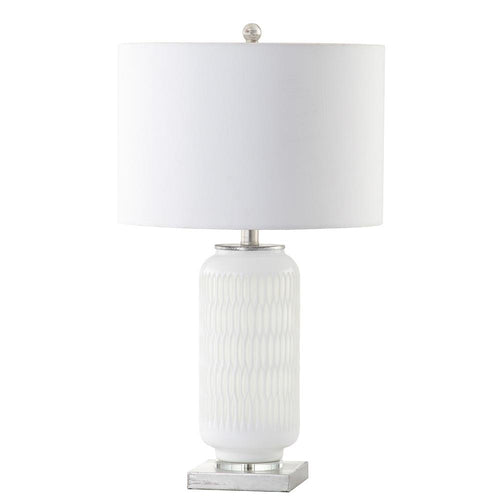 Mariana Home   Bonita Table Lamp   White Art Glass Base   Silver Leaf  Finish
