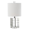 Mariana Home - Adelle One Light Table Lamp - Etched Crystal Finish - 320001-Adelle-Crystal-Table-Lamp