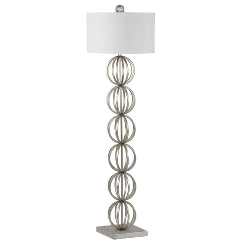 mariana home maxim one light floor lamp silver leaf