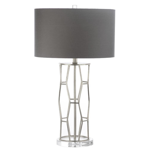 Mariana Home - Preston Table Lamp - Silver Leaf - Dark Grey Shade - 320021