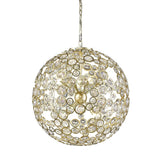 Mariana Home - Mira Eight Light Pendant - Gold Finish with Crystal Accents - 320818