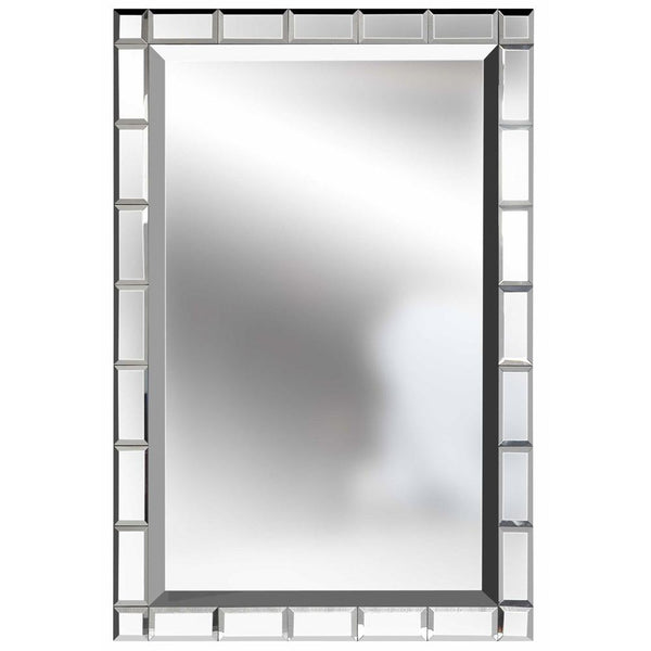 Mariana Home - Beveled Framed Rectangle Facets Wall Mirror - 340036