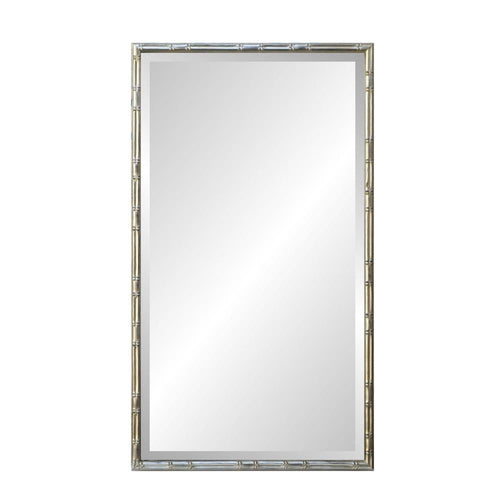 Mariana Home - Framed Rectangle Bamboo Mirror - Silver Finish - 340049