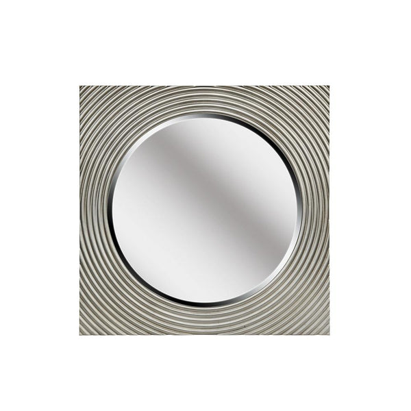 Mariana Home - Framed Square Vortex Wall Mirror - Silver Leaf Finish - 340054
