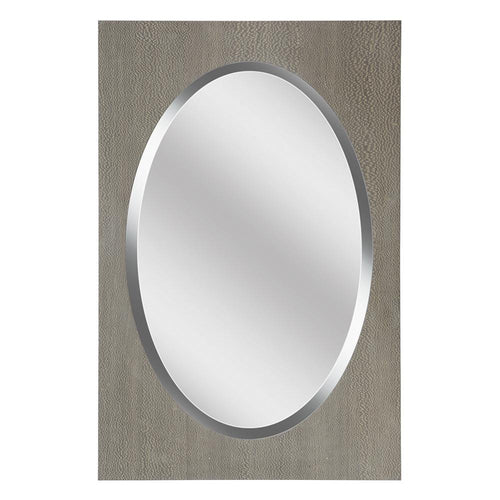 Mariana Home - Framed Rectangle Mackenzie Mirror - Wooden Finish - 340056