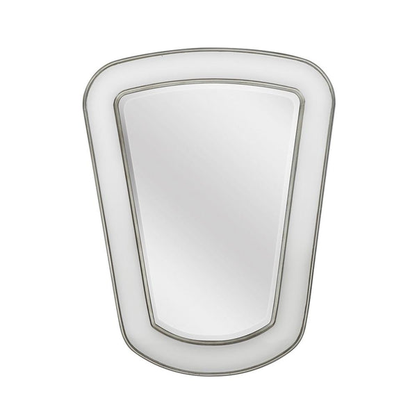 Mariana Home - Framed Rectangle Ollie Wall Mirror - Silver Leaf and Ivory Finish - 340057
