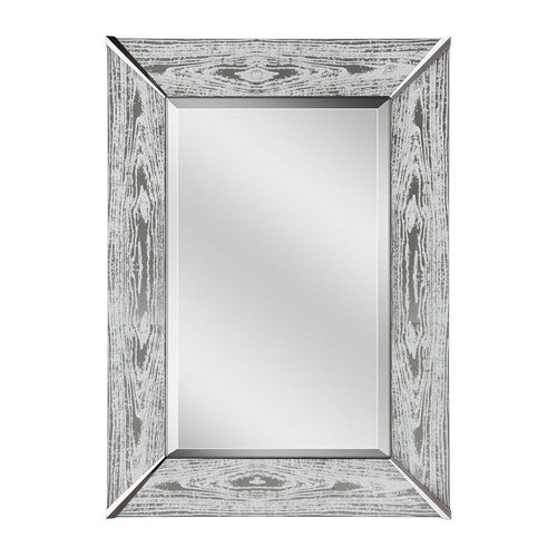 Mariana Home - Framed Rectangle Dylan Mirror - White Back Painted Glass Frame - Modern Farmhouse Style - 340058