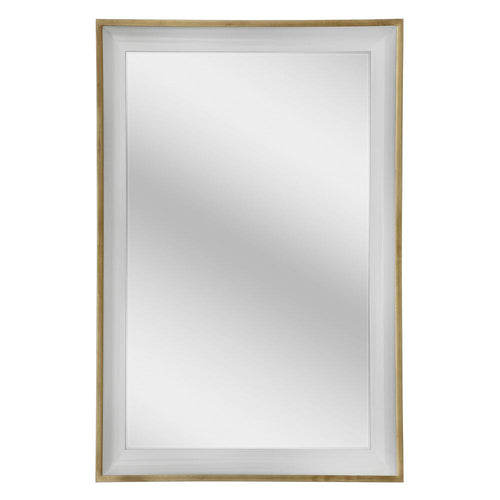 Mariana Home - Framed Rectangle Ella Mirror - Gold Leaf and Ivory Finish - 340061