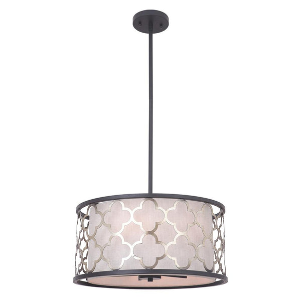 Mariana Home - Madison Five Light Pendant - Bronze and Antique Champagne Finish - 342283