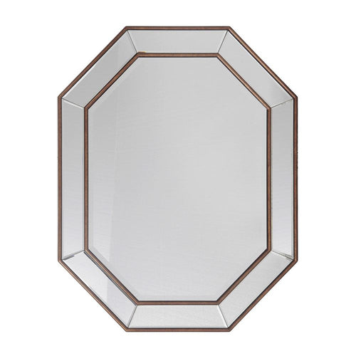 Mariana Home - Kendra Rectangle Framed Wall Mirror - Gold Leaf Finish - Octagon - 360003