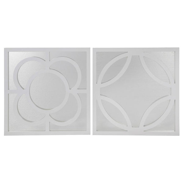 Mariana Home - Arabella Framed Set of Wall Mirrors - White Finish - 360006
