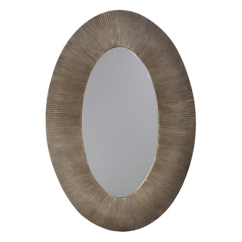 Mariana Home - Devan Oval Framed Wall Mirror - Antique Gold Finish - 360009