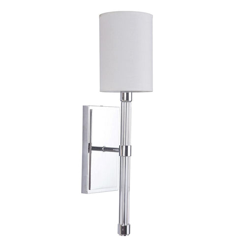 Mariana Home - Zoe One Light Wall Mount - Sconce - Chrome, Silver Finish - White Shade - 370105