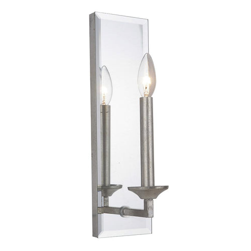 Mariana Home - Brayden One Light Wall Mount - Sconce - Antique Silver Leaf Finish - 380114