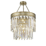 Mariana Home - Spectrum Nine Light Pendant - Champagne Finish with Glass Accents - 380965