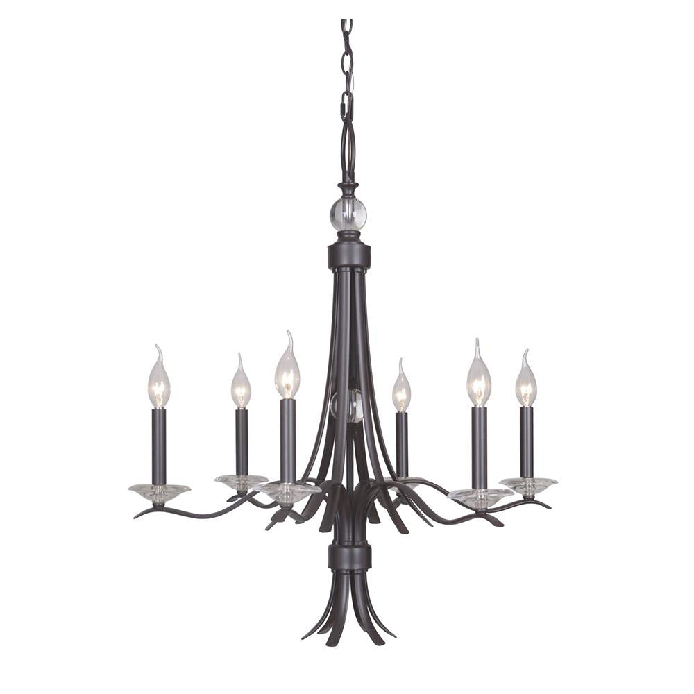 Contessa 6 light chandelier bronze mariana home contessa 6 light chandelier bronze mozeypictures Gallery