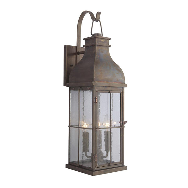 Mariana Home - Cole Three Light Outdoor Wall Lamp - Lantern - Copper Finish - 390832
