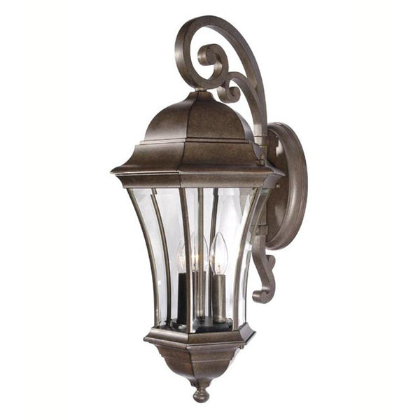 Mariana Home - Large Recurved Downward Outdoor Lantern - Bronze Finish - 413136