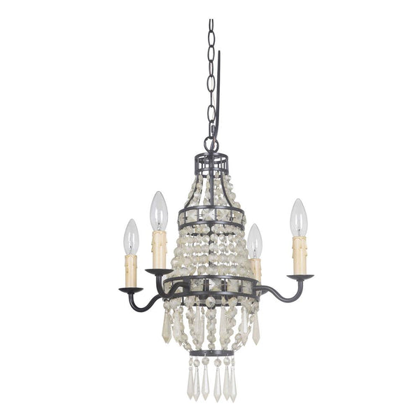 Mariana Home - Mini Bauble Chandelier with Amber Crystals - Urban Bronze Finish - 420473