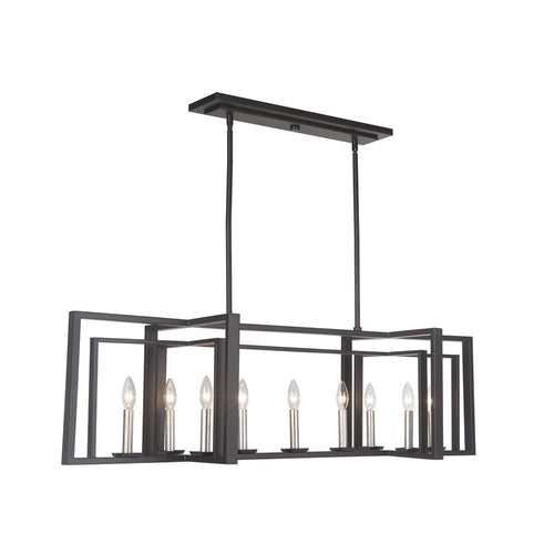 Mariana Home - Suri Nine Light Kitchen Island Pendant - Bronze Finish - 430984