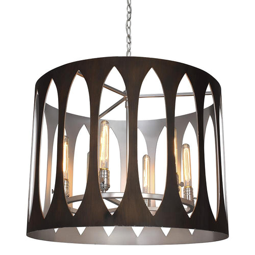 Mariana Home - Maddox Six Light Pendant - Bronze and Silver Finish - 440672
