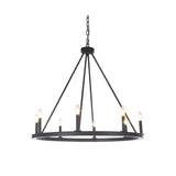 Mariana Home - Chisholm Eight Light Chandelier - Bronze Finish - Modern Farmhouse Style - 440883