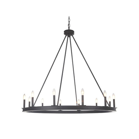 Nicola 5 Light Chandelier - Satin Nickel
