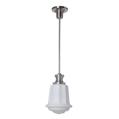 Mariana Home - School House One Light Pendant - Satin Nickel/Silver Finish - 470145