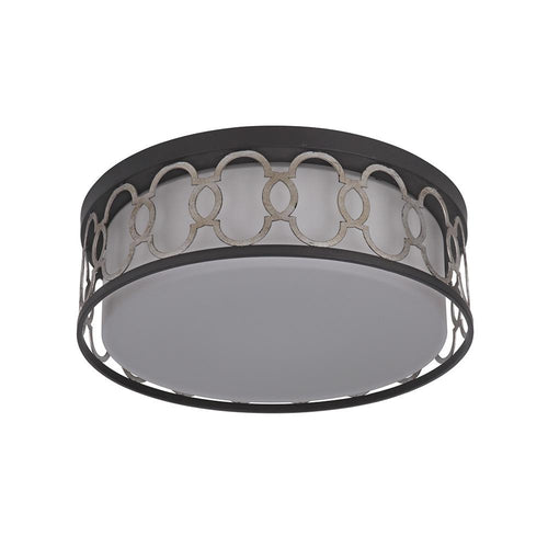 Mariana Home - Kendra Flush Mount - Bronze and Silver Leaf Finish - LED - 541783