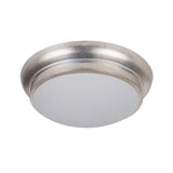 Classic 13in Flush Mount - Satin Nickel Finish