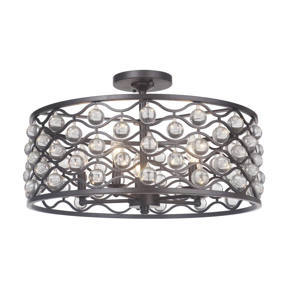 Halcyon 5 Light Dual Mount Pendant/Semi Flush  sc 1 st  Mariana Home & Halcyon 5 Light Dual Mount Pendant/Semi-Flush | Mariana Home