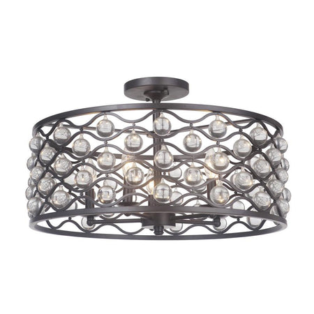 Eldon 3 Light Flush Mount - Bronze