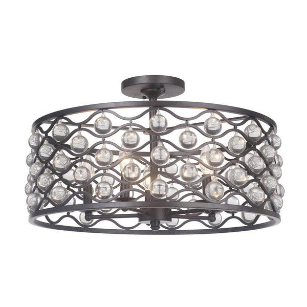 Mariana Home - Halcyon Five Light Dual Mount Pendant Semi-Flush - Urban Bronze - 552383