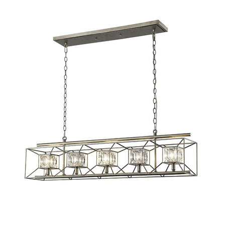 Hugo 5 Light Chandelier - Urban Bronze