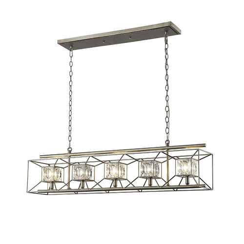 Mariana Home - Chesley Five Light Kitchen Island Chandelier - Silver Finish - 585526  sc 1 st  Chandeliers u2013 Mariana Home & Chandeliers u2013 Mariana Home azcodes.com