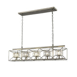 Mariana Home - Chesley Five Light Kitchen Island Chandelier - Silver Finish - 585526