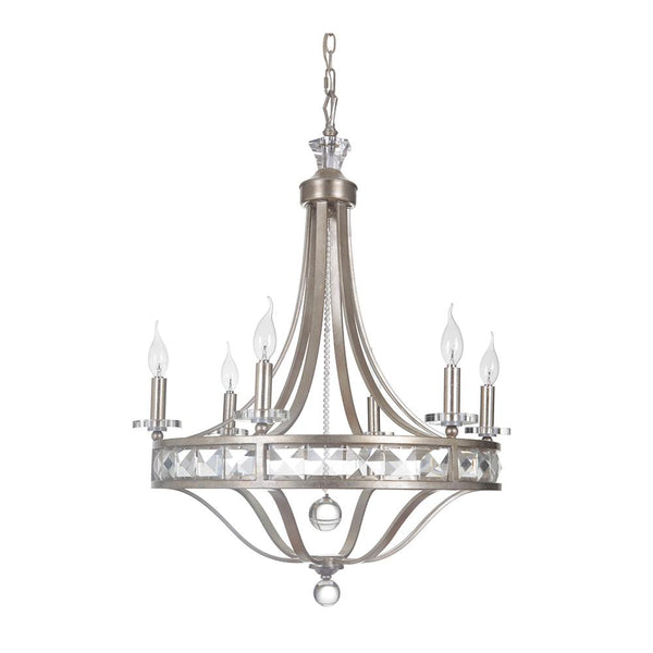 Mariana Home - Hadessah Six Light Chandelier - Champagne Finish - 590655